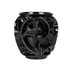 Tourbillons Vase, H12.6 x D12.2cm, black/satin finished