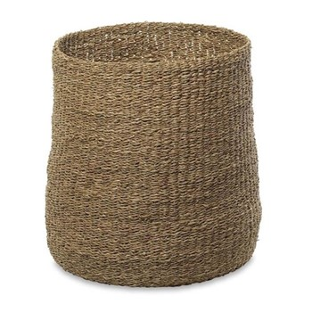 Noko Tall seagrass basket, D45 x 45cm, natural