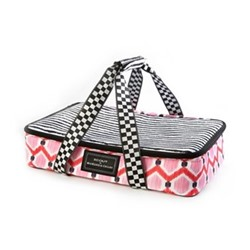 The Hot Date Picnic basket, W43.18 x H8.89 x W29.21cm, pink