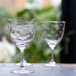 Fern Set of 6 wine glasses, 250ml, crystal