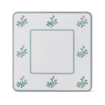 Coral Set of 4 square table mats, 24 x 24cm
