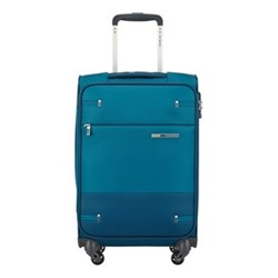 Base Boost Spinner suitcase, 55 x 35 x 20cm, petrol blue stripes