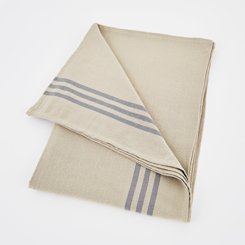 Maxime Tablecloth, W160 x L250cm, Linen / Grey