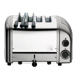 Classic Combi 2 x 2 slot toaster, metallic silver
