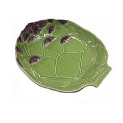 Artichoke Pair of pasta plates, 28.2 x 23.7cm, green