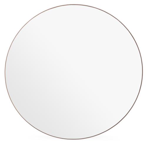 Fine Wood Round mirror, D60cm, Walnut