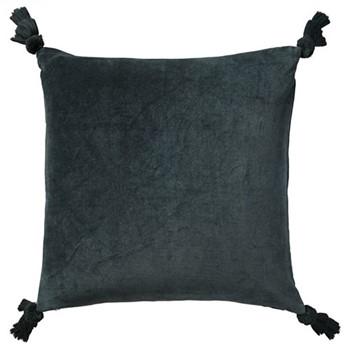 Tasselled cushion cover, L51 x W51cm, dark teal