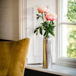 Tulip Small vase, H40 x W10 x D10cm, Silver