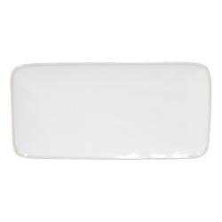 Astoria Pair of rectangle trays, 22 x 11cm, white