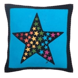 Star of Stars Cushion, 47 x 46cm, blue
