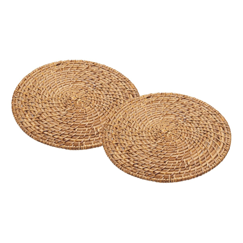 Pair of placemats, 28cm, Bamboo