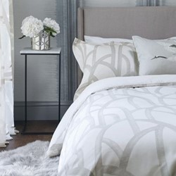 Meso King size duvet cover, L220 x W230cm, oyster