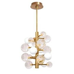 Globo 5-light chandelier, W39.37 x D39.37 x H43.18cm, clear