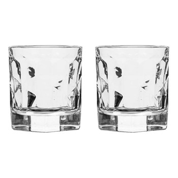 Club Pair of small tumblers, Dia7.3 x H8.4cm - 21cl, clear
