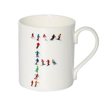 Alphabet - F Mug, H9.5 x W10.5 x D8.5cm - 35cl, multi