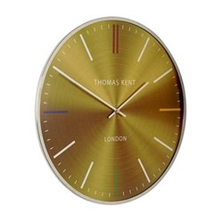 Oyster Wall clock, 41cm, amber with metal rim