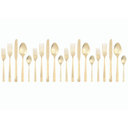 Oslo 20 piece cutlery set, Matte Gold With Gift Box