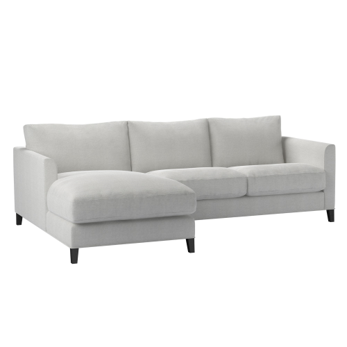 Izzy Small left hand chaise sofa, H87 x W240 x D97cm, Pumice