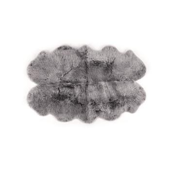 Helgar Large quad sheepskin rug, H105 x W170cm, grey