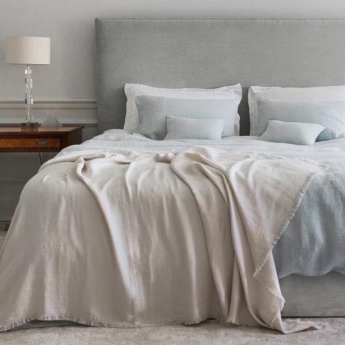 Oxford pillowcase, 50 x 75cm, Moustier Duck Egg