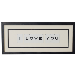 I LOVE YOU Medium frame, 51 x 20cm