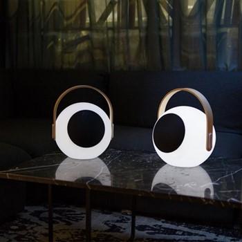Eye Speaker lantern, L23.9 x W23.9 x H28.2cm, white/black