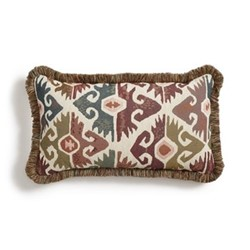La Merce Oblong cushion, ikat design
