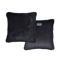 Sheepskin cushion, L40 x W40cm, black