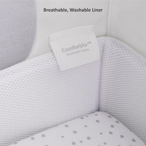 SnuzPod Bedside Crib, H49 x W95cm, Rose White