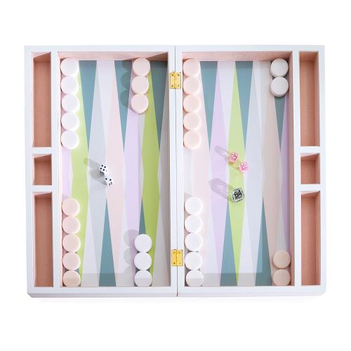 Milano Backgammon set, H11 x W47 x L28cm