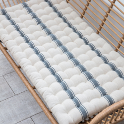 Hampstead Bench seat pad, 4 x 96 x 50cm, charcoal