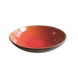Tourron Natural Soup plate, 19cm, orange
