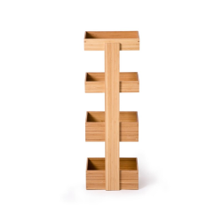 Arena 4 tier caddy, H74 x W26 x D20cm, Bamboo