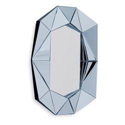 Diamond Small wall mirror, 57.6 x H80 x D6cm, silver/midnight