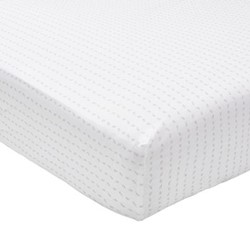 Leaf King size fitted sheet, L200 x W150 x H34cm, linen