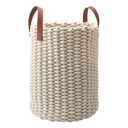 Rudon Laundry basket, L35 x W35 x H65cm, beige