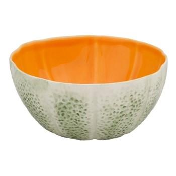 Melon Set of 4 bowls, 13 x 12 x 6cm, green/orange