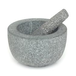 Pestle and mortar, W20.5 x H11 x D19.5cm, granite
