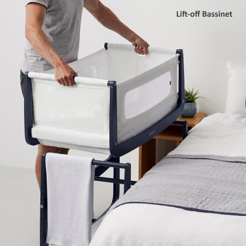 SnuzPod Bedside Crib, H49 x W95cm, Navy