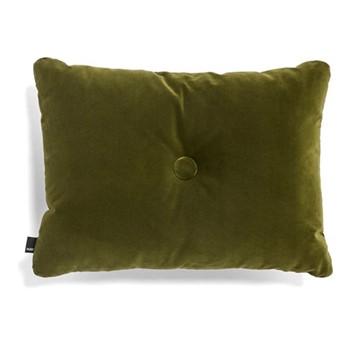 Dot Velvet cushion, W60 x H45cm, moss