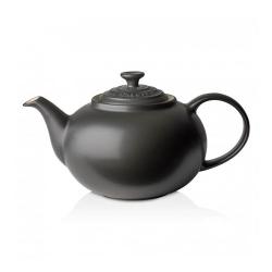 Stoneware Classic teapot, 1.3 litre, satin black