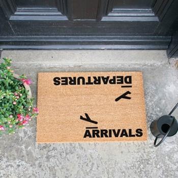 Arrivals, Departures Doormat , L60 x W40 x H1.5cm