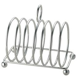 Toast rack, 6 slot, silver plate