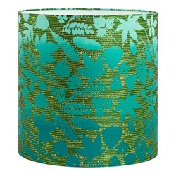 Falling Leaves Lampshade, 36 x 36cm, moss/jade ombre