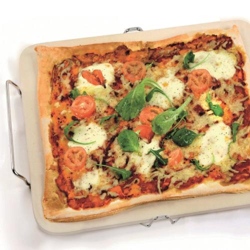 Rectangular pizza stone, 42 x 30cm, natural