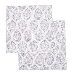 Leaf Set of 4 napkins, 45 x 45cm, grey cotton