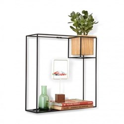 Cubist Wall display, large, natural/black
