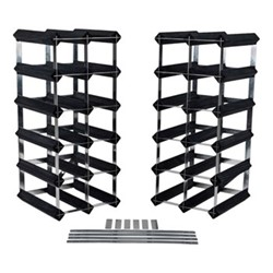 Flexi 30+ bottle wine rack, H52 x W23 x D23cm, black ash/galvanised steel