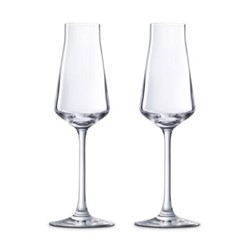 Chateau Baccarat Pair of Champagne flutes, H23.8cm - 20cl, clear