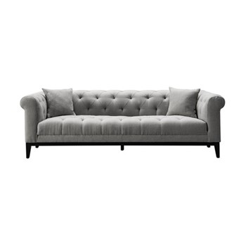 Fiorella Large sofa, W232 x H72.5 x D98cm, grey/black